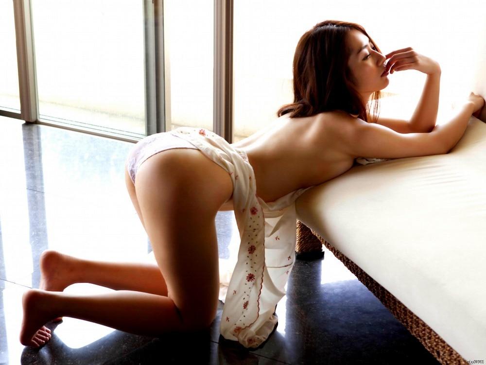 Topless Asian Girl Sexy Butt Panties Art Huge Print Poster D4285