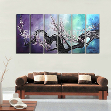 Hand Painted Oil Painting on canvas 6P  plum flower Tree for home decoration free shippment