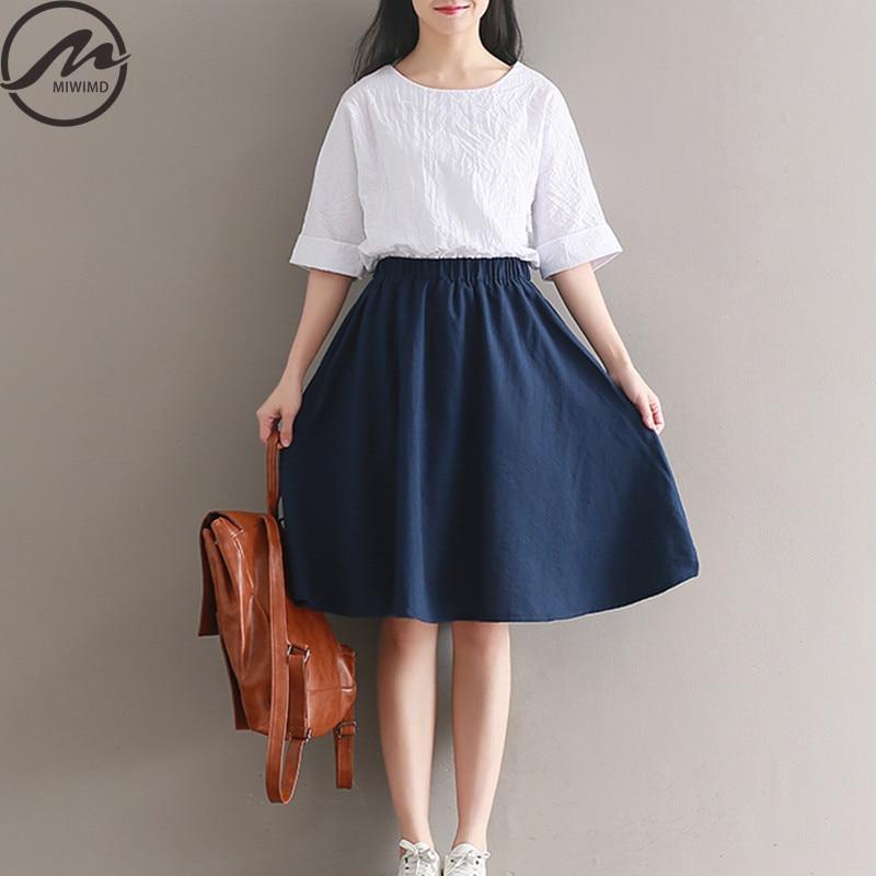 Miwimd más mujeres del tamaño vestidos de verano 2017 nueva moda casual suelta r