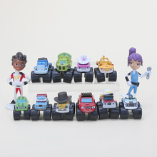 3-7cm 12pcs/set Blaze Flame Machines Trucks Model  Action Figures  Model Toy