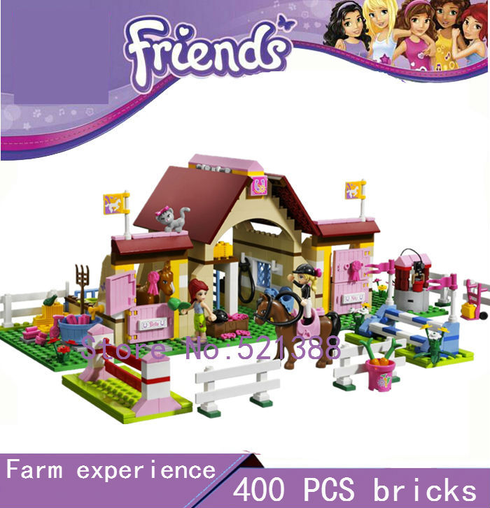 DIY Educational Toys for children CHINA BRAND self-locking bricks Compatible with Lego friends Heartlake Stables 3189  china brand l0146 educational toys for children diy building blocks 00146 compatible with lego