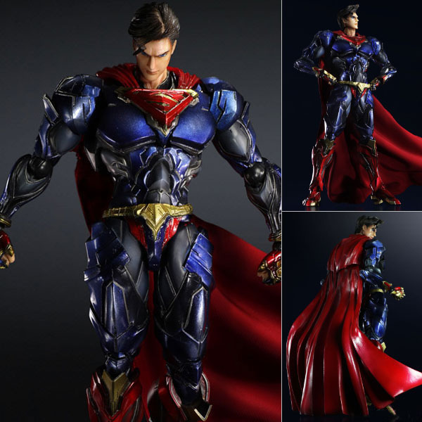 Free Shipping 10 PA KAI DC Hero JLA Superman Super Man Boxed 26cm PVC Action Figure Collection Model Doll Toy Gift free shipping 10 pa kai hatsune miku boxed 25cm pvc action figure collection model doll toy gift