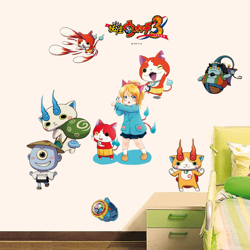 1 stks 45 * 65 cm Multicolor Yokai horloge sticker 3 stijlen voor kiezen Japanse cartoon ster Model sticker d10