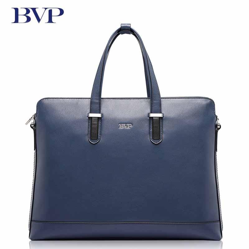 Bvp бренд высокое качество Пояса из натуральной кожи Для мужчин Портфели Бизнес синий дипломат со съемным плечевым ремнем из коровьей кожи J50