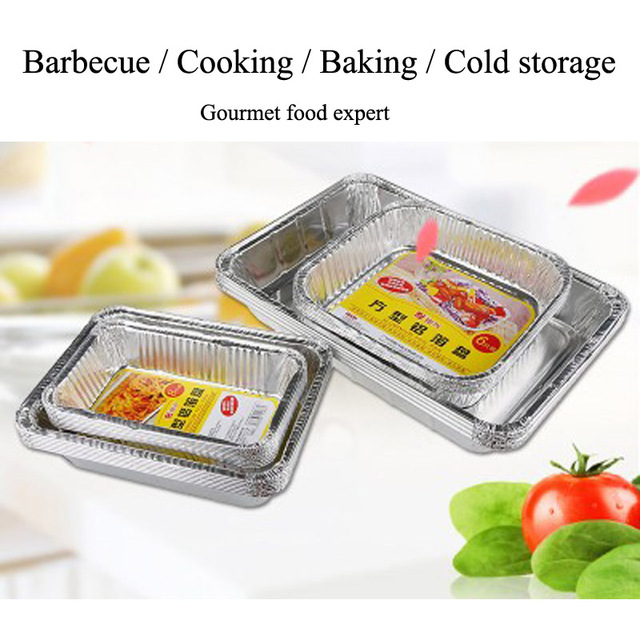 Kitchen Cooking Baked Aluminum Foil Tray Baking Fresh High Temperature Aluminum Foil Food Storage Box Organizer  sc 1 st  AliExpress.com & Kitchen Cooking Baked Aluminum Foil Tray Baking Fresh High ...