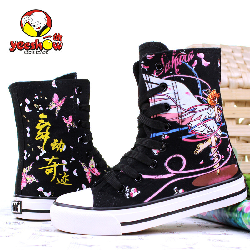 2015 Spring New Children Canvas High Shoes, Wear Resistant Sneakers For Girls,Canvas Nonslip Boots For Kids,Kids Shoes For Girl