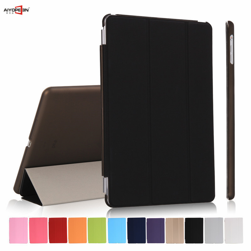 for ipad air1 case pu leather smart wake up sleep with matte transparent pc back case two parts magnet flip stand for ipad 5 nice soft silicone back magnetic smart pu leather case for apple 2017 ipad air 1 cover new slim thin flip tpu protective case