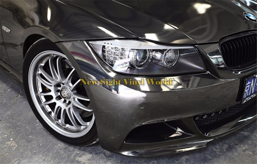 Фото High Quality Stretchable Black Chrome Vinyl Wrap Film For Car Sticker Air Bubble Free