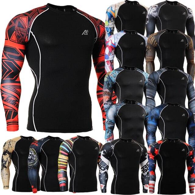 281692c39bbf Advanced 3D Male Print Compression Shirt Slim Fit Skins Tight Long Sleeve  Men s Bodybuilding Crossfit MMA