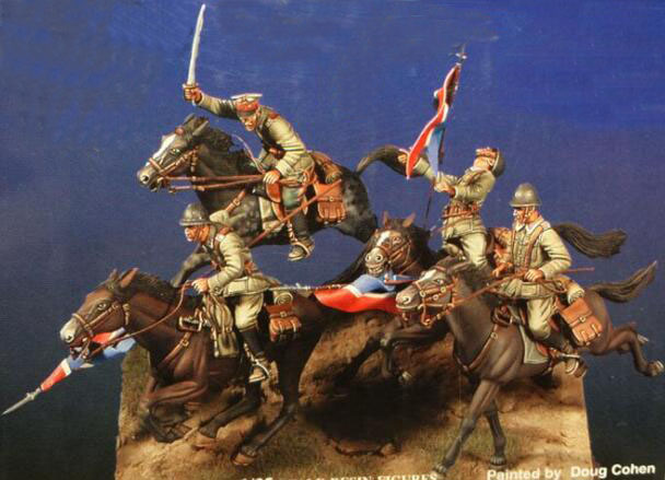 1/35 Resin Kits WWII Polish Cavalry With War Horse (4pcs Figures,4pcs Horse,no Lances And Flags)