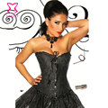Steel Boned Women Corselet Overbust Corpetes E Espartilhos Sexy Gothic Corsets And Bustiers Black Waist Trainer Corset Store