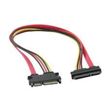 50 cm 22P 7 + 15Pin M/F seri ATA SATA veri güç Combo uzatma kablosu profesyonel fabrika fiyat damla nakliye