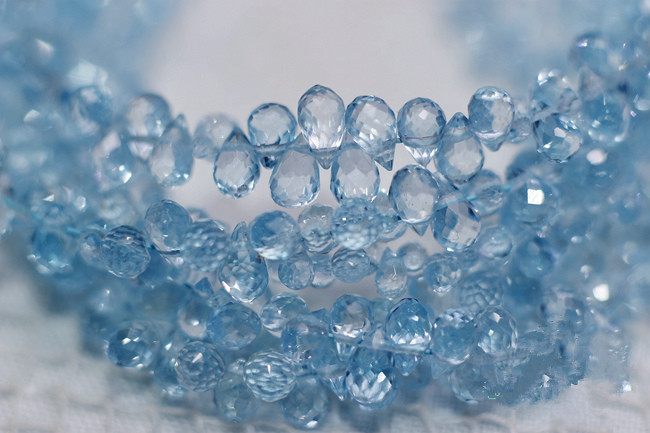 One PIECE Loose Beads Sky Blue Topaz Drop Faceted 4-7mm  For DIY Jewelry Making FPPJ Wholesale Beads Nature Gem Stone