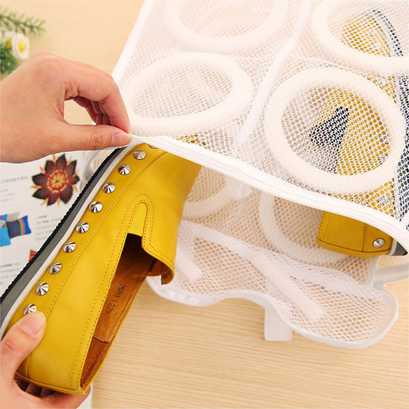 Net Hanging Wash Bag Shoes Boot Cleaner Storage Organization Landury Bags Sport Washing Sneaker Nylon Tennis Laundry