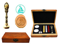 Sailing Boat Vintage Custom Luxury Wax Seal Sealing Stamp Brass Peacock Metal Handle Sticks Melting Spoon