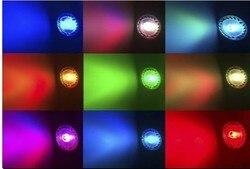 E27 светодиодная RGB лампа 4 Вт MR16 GU10 GU5.3, светодиодная лампа 110 В 220 В, RGB прожектор высокой мощности, 16 цветов, ИК-лампы с пультом дистанционного у...