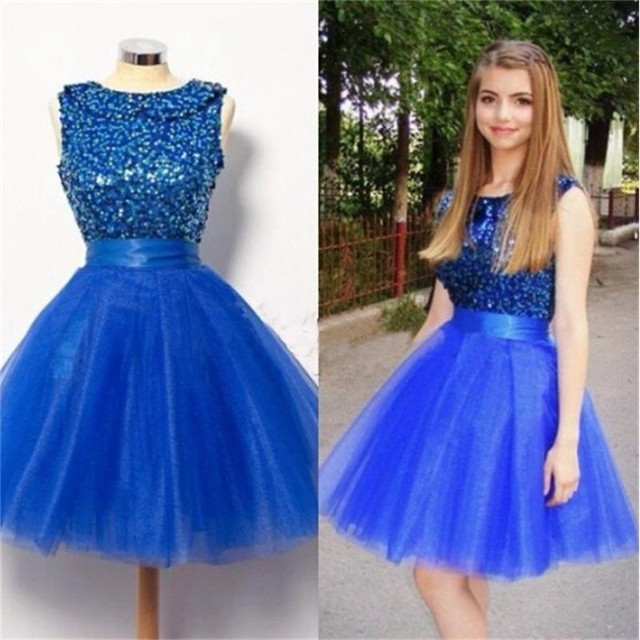 3b23223259a2e New Organza Homecoming Dresses Beading Vestido Curto Vestido de Festa Curto  8th Grade Prom Dresses Royal