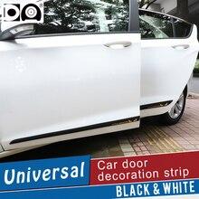 4 stück Auto Tür Verlängern Anti kollision Streifen Rand Schutz protector Auto decor Schwarz/Weiß verwenden für auto tür fit alle auto modelle