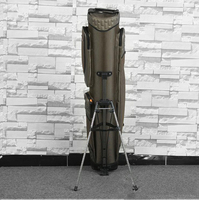 YINGTOUMAN 4Pcs/Lot Nylon Length 1.25 m Army Green Fishing Bag with Bracket Two layers / Three floors Fishing Tackle