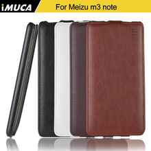 IMUCA Brand For Meizu m3 note Case 5.5 inch Flip PU Genuine Leather Cover For Meizu M3 NOTE Meilan Note 3 with Retail Package
