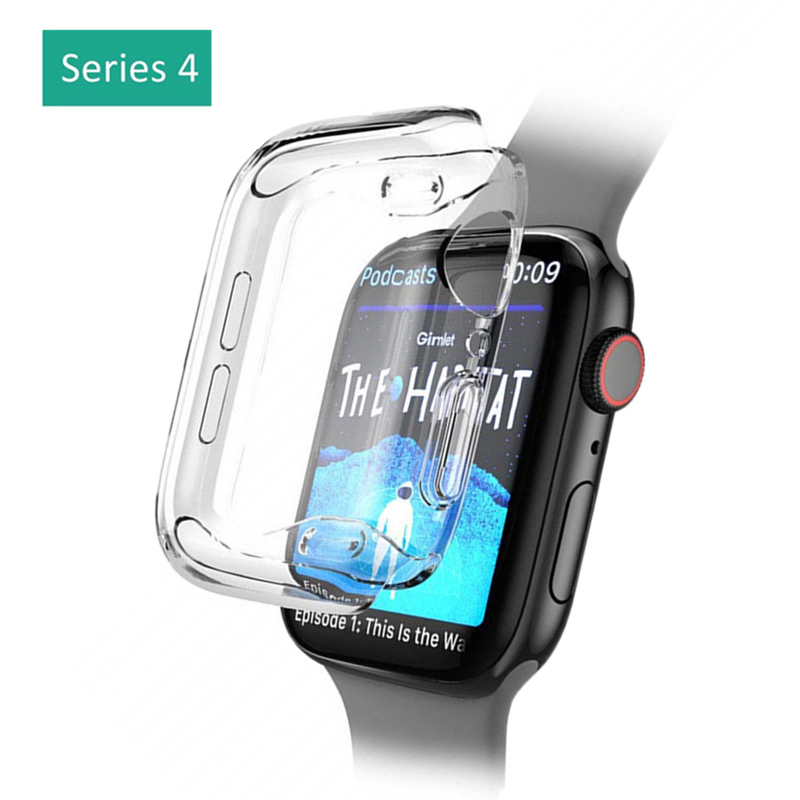 ASHEI Soft TPU Protector Case for Apple Watch Series 4 Clear Bumper Cover for Apple Watch iWatch 40mm 44mm Accessories nanox apple ipod nano watch conversion kit silver case clear strap