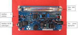Image 3 - Gratis verzending Nieuwere Upgrade Gemonteerd DIY Geige Geigerteller Kit; Nucleaire Straling Detector; GM Buis connector