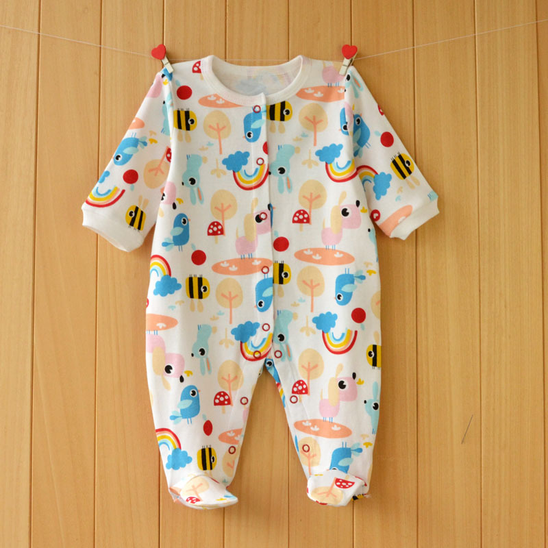 17 New spring cartoon baby rompers cotton 100% girls and boys clothes long sleeve romper Baby Jumpsuit newborn baby Clothing 20