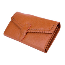 Imucaplus Brand Lovely Soft Cowhide Genuine Leather Long Minimalist Card Holder Phone Wallet Women's Purse Money Bag