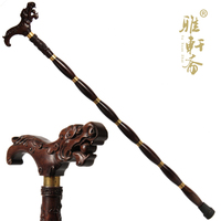 Rosewood rosewood ebony wood stick stick old wooden crutch crutches leading the elderly saat