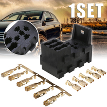 цена на Relay & 3 Fuse Base Kit 4&5 PIN Flasher Relay ATO Fuses Holder Socket Box for Mini Standard Automotive Relays