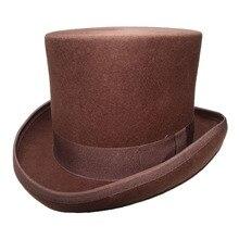 LUCKYLIANJI Vintage Steampunk Victorian Formal Top Wool Felt Magician Fedoras Ma