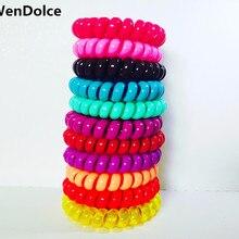 10 шт., модные эластичные, силиконовые, резиновые резинки для волос 5 см, аксессуары для волос