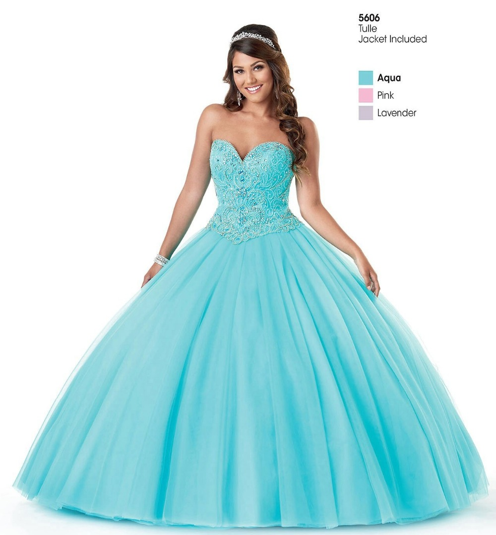 Popular Aqua Quinceanera Dresses-Buy Cheap Aqua Quinceanera ...
