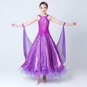 Image 3 - Современные танцевальные костюмы, Бальные Танцевальные Костюмы без рукавов, танцевальные костюмы для выступлений, большие качели, вальса, костюм для соревнований по танцу