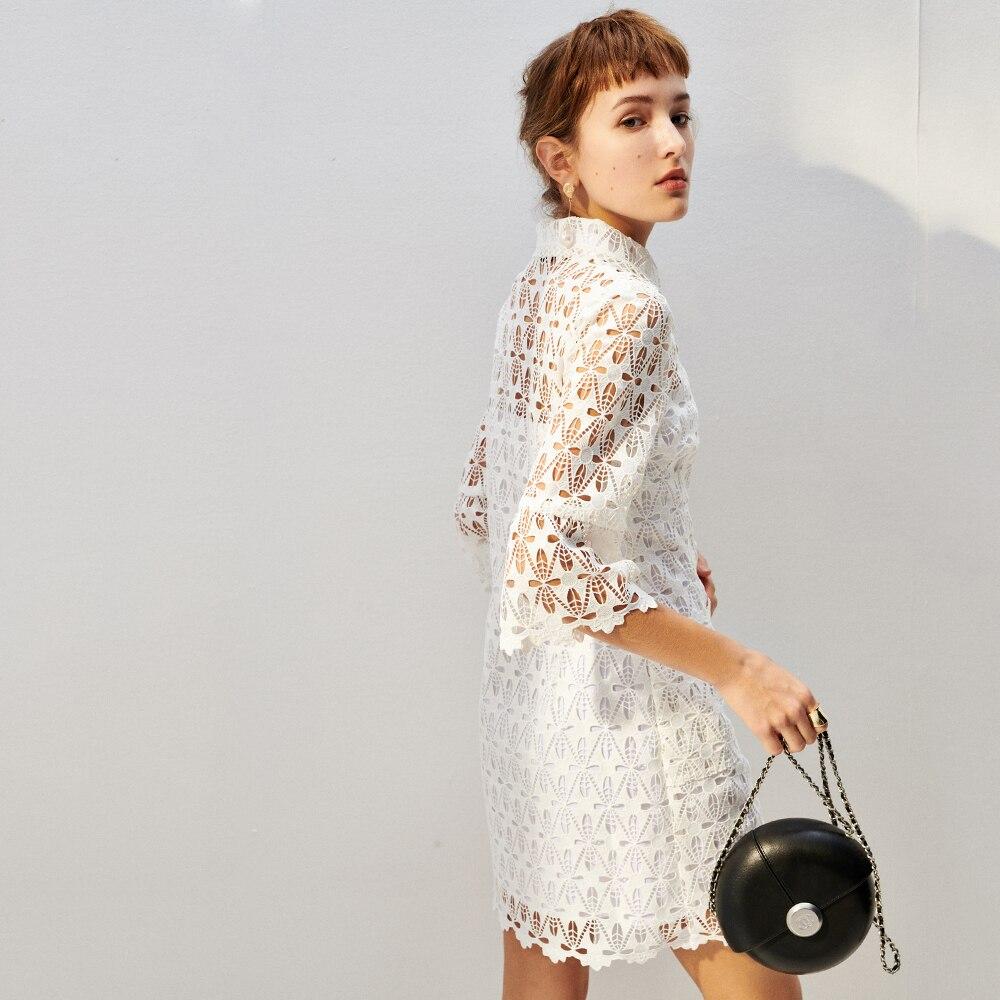 Mode Ajouré Femmes Luxe De Robe En Marque Printemps Kenvy Haut Dentelle Élégant Slim Gamme wqvEngt