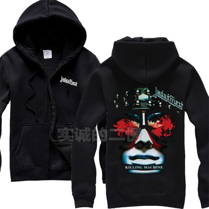 12 видов крутых клинок Judas Priest Rock черная толстовка с капюшоном в виде ракушки куртка Панк Череп Демон металлический свитшот на молнии Sudadera 3d принт - Цвет: 2