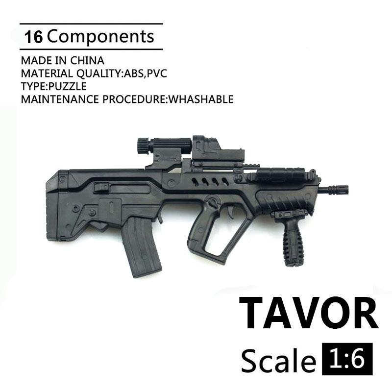 1:6 Soldier 4D Assembly Model Israel TAVOR Model