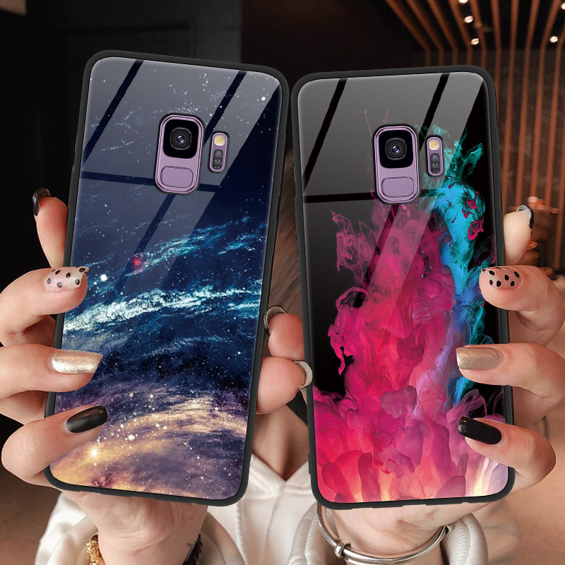 Luxury Tempered <font><b>Glass</b></font> For <font><b>Samsung</b></font> <font><b>Galaxy</b></font> Note 9 8 A50 S8 S9 S10 Plus S10e M10 <font><b>M20</b></font> J5 J7 Prime J4 A6s A7 A8 A6 Plus 2018 TPU <font><b>Case</b></font> image