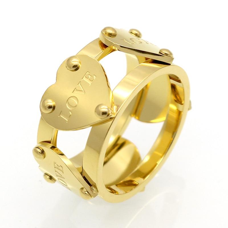 2017 Heißer Verkauf Mode Luxus Berühmte Liebe Ring Neue Weibliche Ringe Gold Farbe Fünf Pfirsich Herz Ring Für Frauen Anillo Feine Schmuck Starke Verpackung