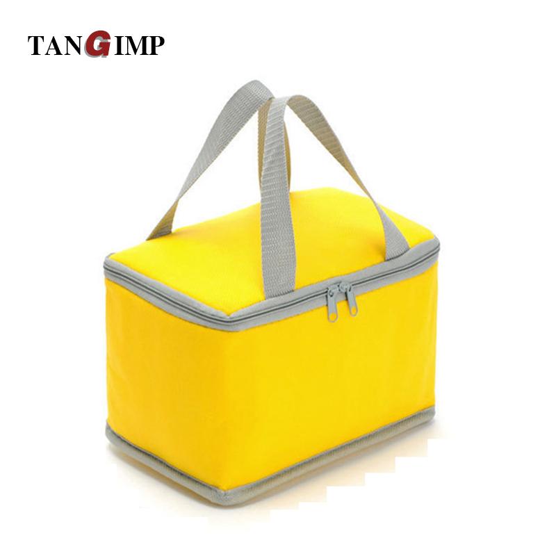 86a929c65b Tangimp portátil aislados bolsa de almuerzo no tejido alimentos térmica  llevar picnic cooler bolsa déjeuner color caramelo para niños mujeres
