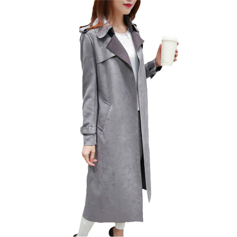 Medium Length Female Windbreaker Coats 2019 Spring Autumn Fashion Women   Trench   Coat Warm Breathable Outdoors Casual Tops v599