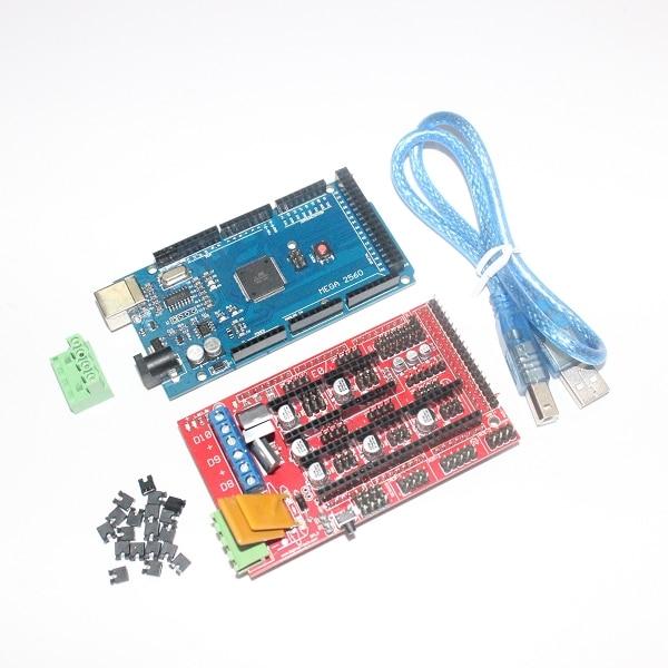 CNC 3D Printer Kit for Arduino Mega 2560 R3 Development Board + RAMPS 1.4 Controller Control Panel AtMega2560 ATmega Mega2560