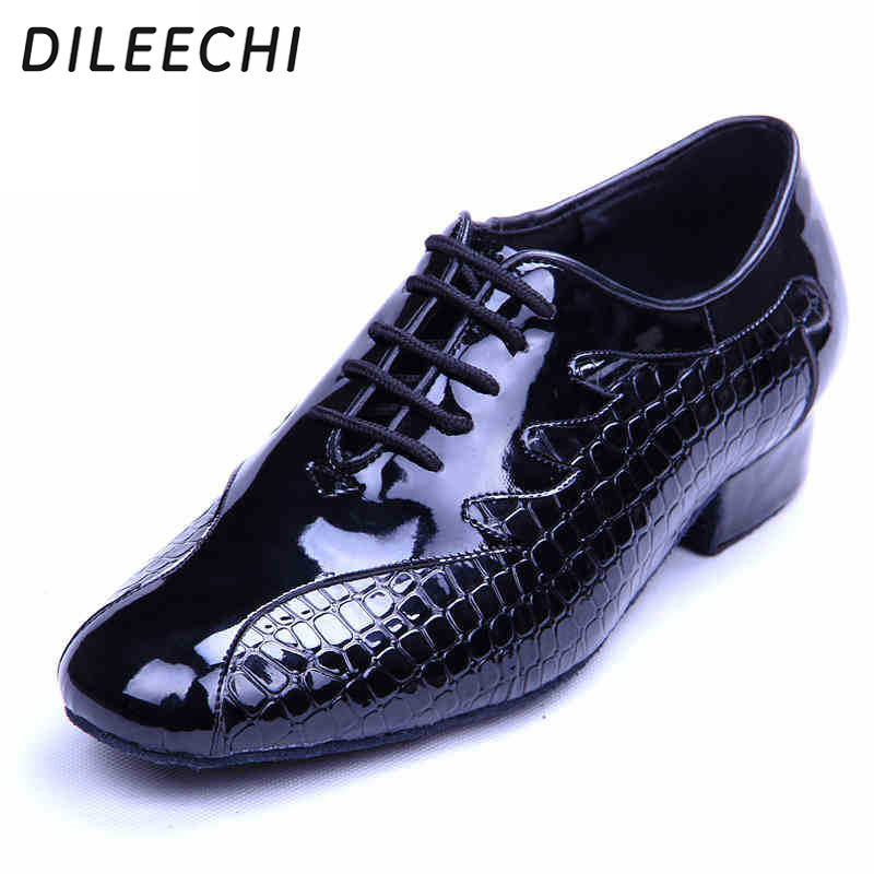 DILEECHI new arrival adult men's modern dance shoes black leather Latin dance shoes sandals sneakers men teacher dance shoes-in Dance shoes from Sports & Entertainment on AliExpress - 11.11_Double 11_Singles' Day 1