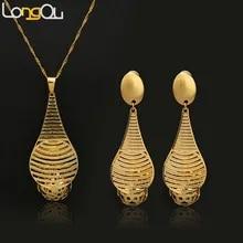 5383197e8310 Pendientes largos colgantes para mujeres cobre oro puro-color geométrico  Cucurbit Temple joyería brasileña para