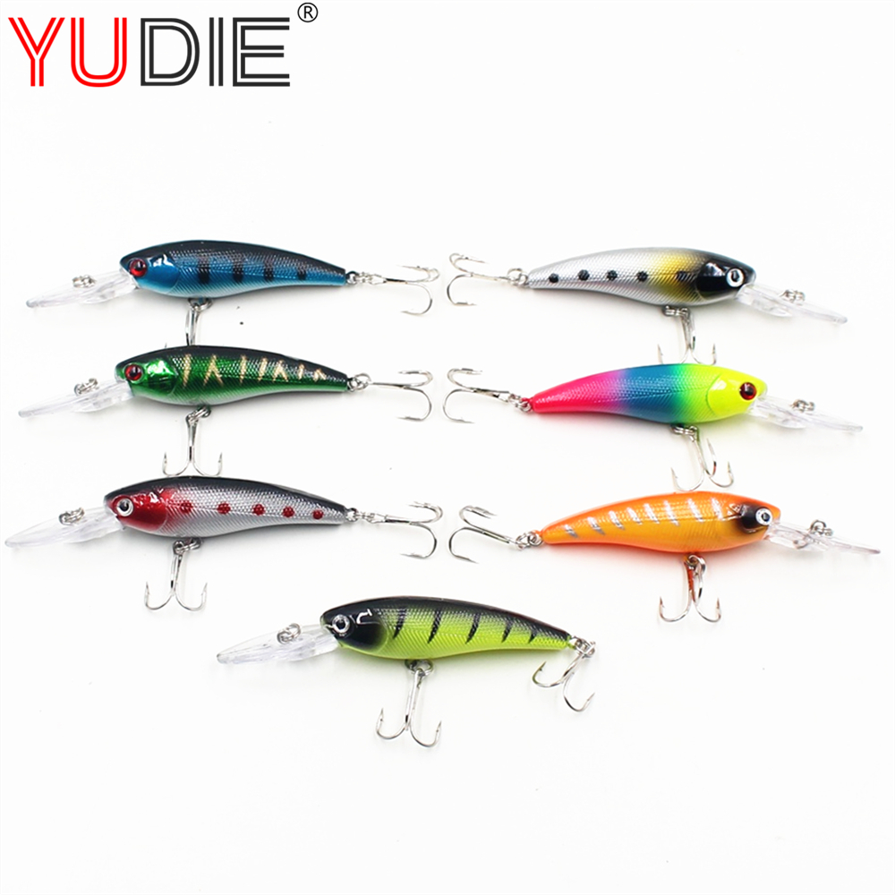 1Pcs Fishing Lures 7 colors 9cm 7.4g Crank hard bait to swim fishing bait with #6 hook fishing tackle Wobblers Spinner ootdty 57mm bass fishing lures crank bait tackle swim bait fishing hard fish lure apr20 17