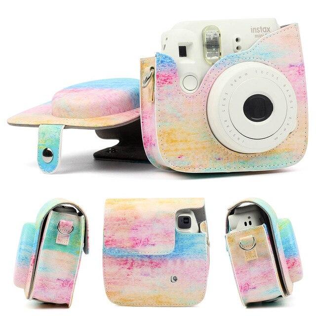 US $10 58 30% OFF|For Polaroid Camera For Fuji Fujifilm Instax Mini 8/9  Classic Retro PU Leather Camera With Strap Bag Case Cover Pouch  Protector-in