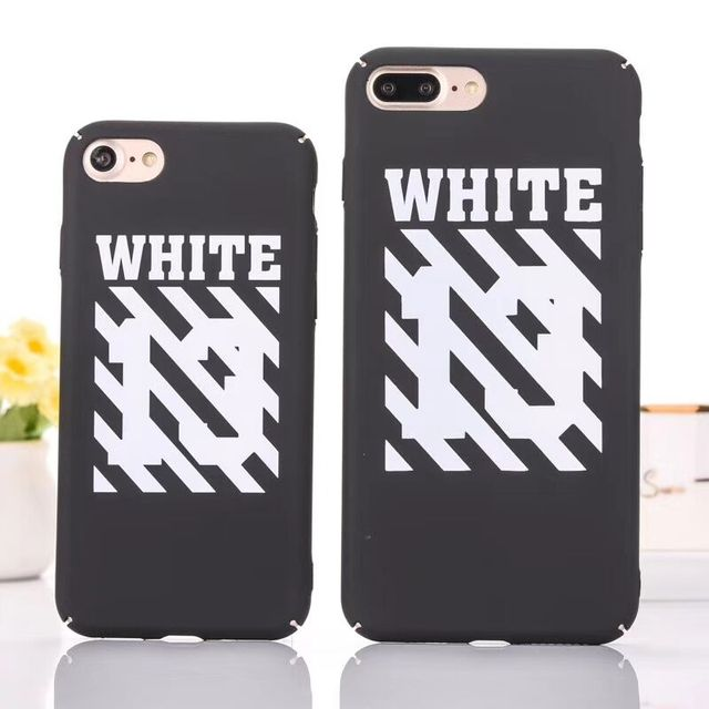 hot sale online 99860 859e0 Fashion Sling Case Set For iphone X 6 6s 8 plus Newest Off White Stripe Boy  Eagle Full protect Hard PC Back Cover 5 5s se