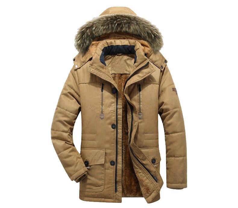 Thick Warm Parka Men New Hot Long Winter Jacket Men Hooded Military Cargo Mens Winter Coat Plus Size M-5XL 8