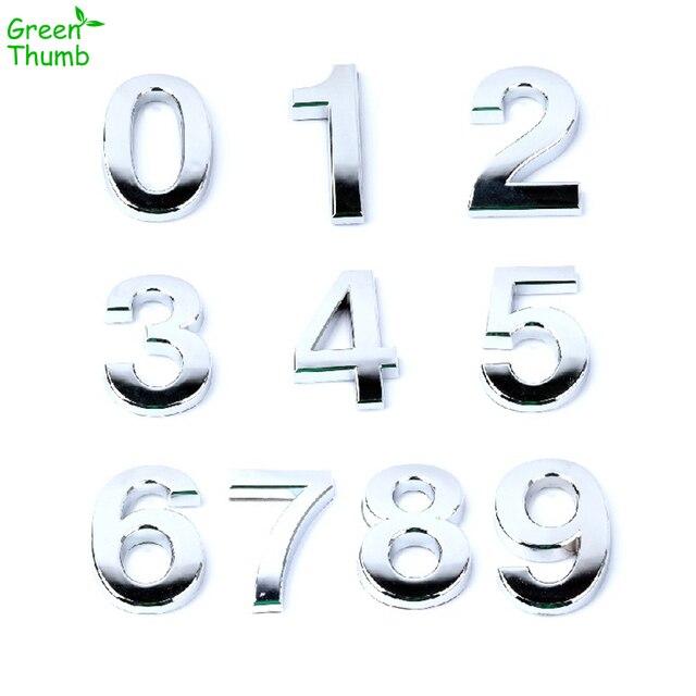 1 pc 5 centimetri Numero di Targa 0,1, 2,3, 4,5, 6,7, 8,9 Moderna Argento Placca