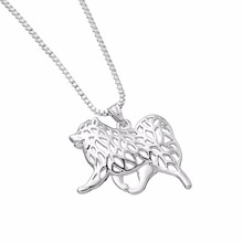 silver lovers necklace Imitation